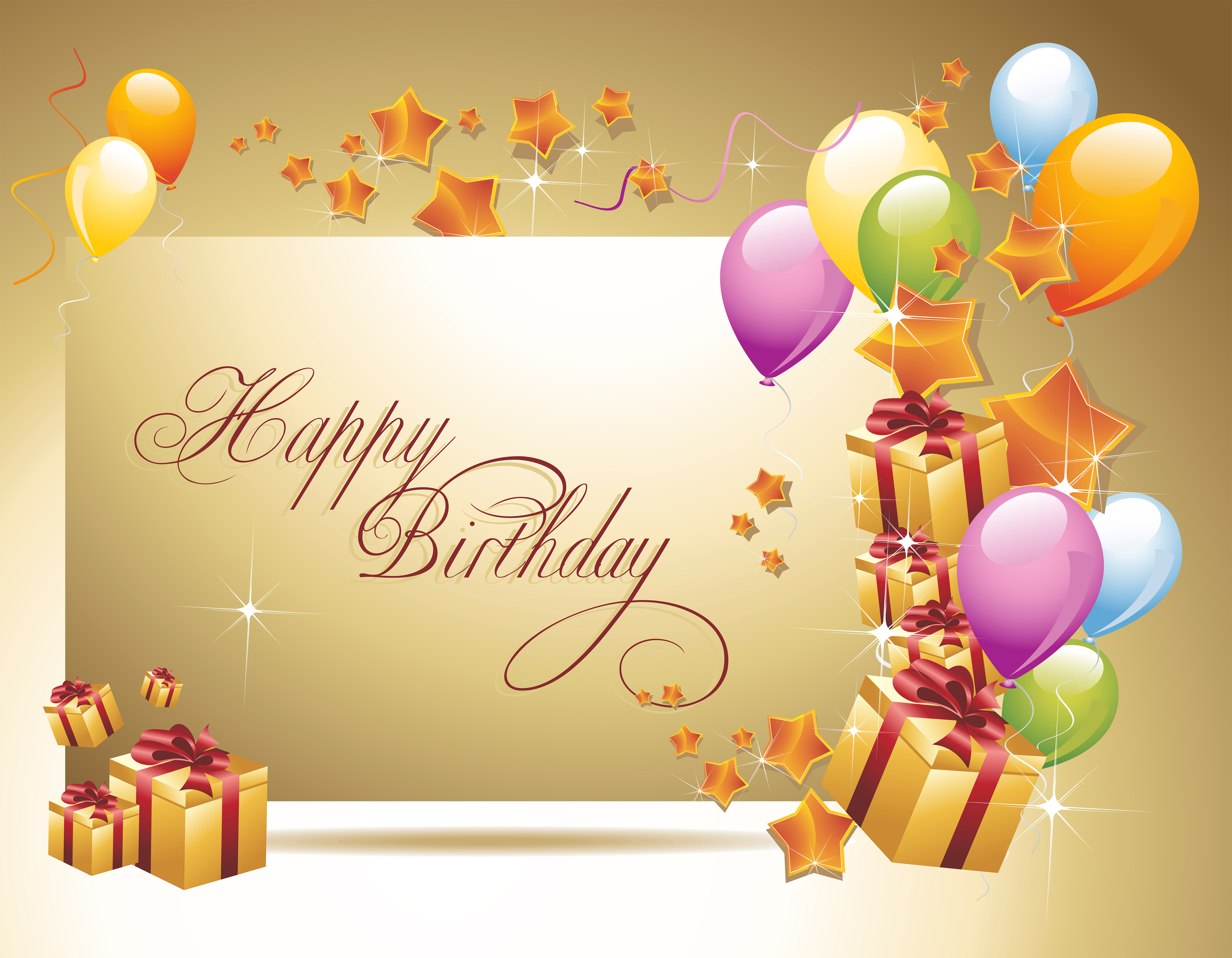 happy birthday background with gift