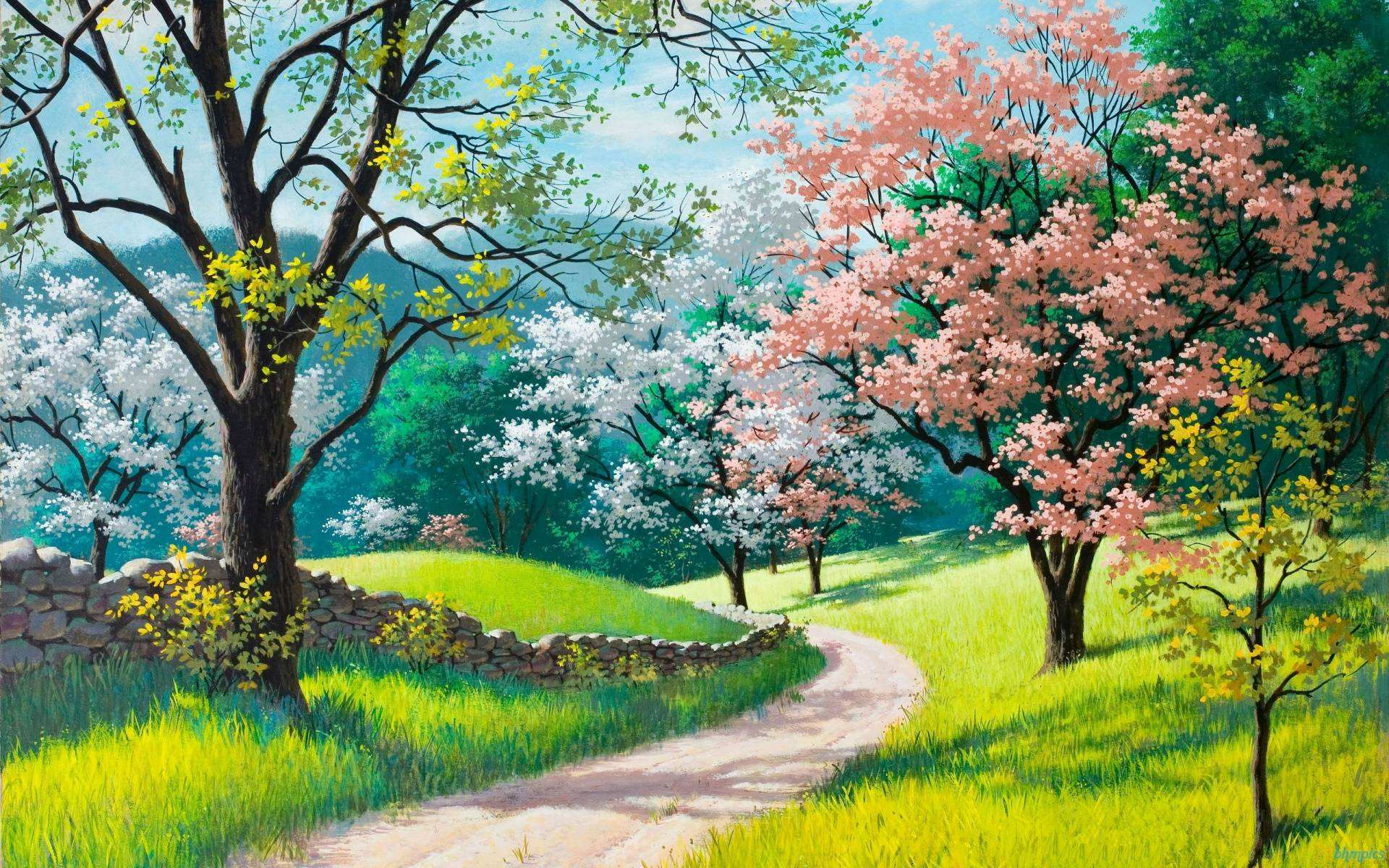 beautiful spring backgrounds hd