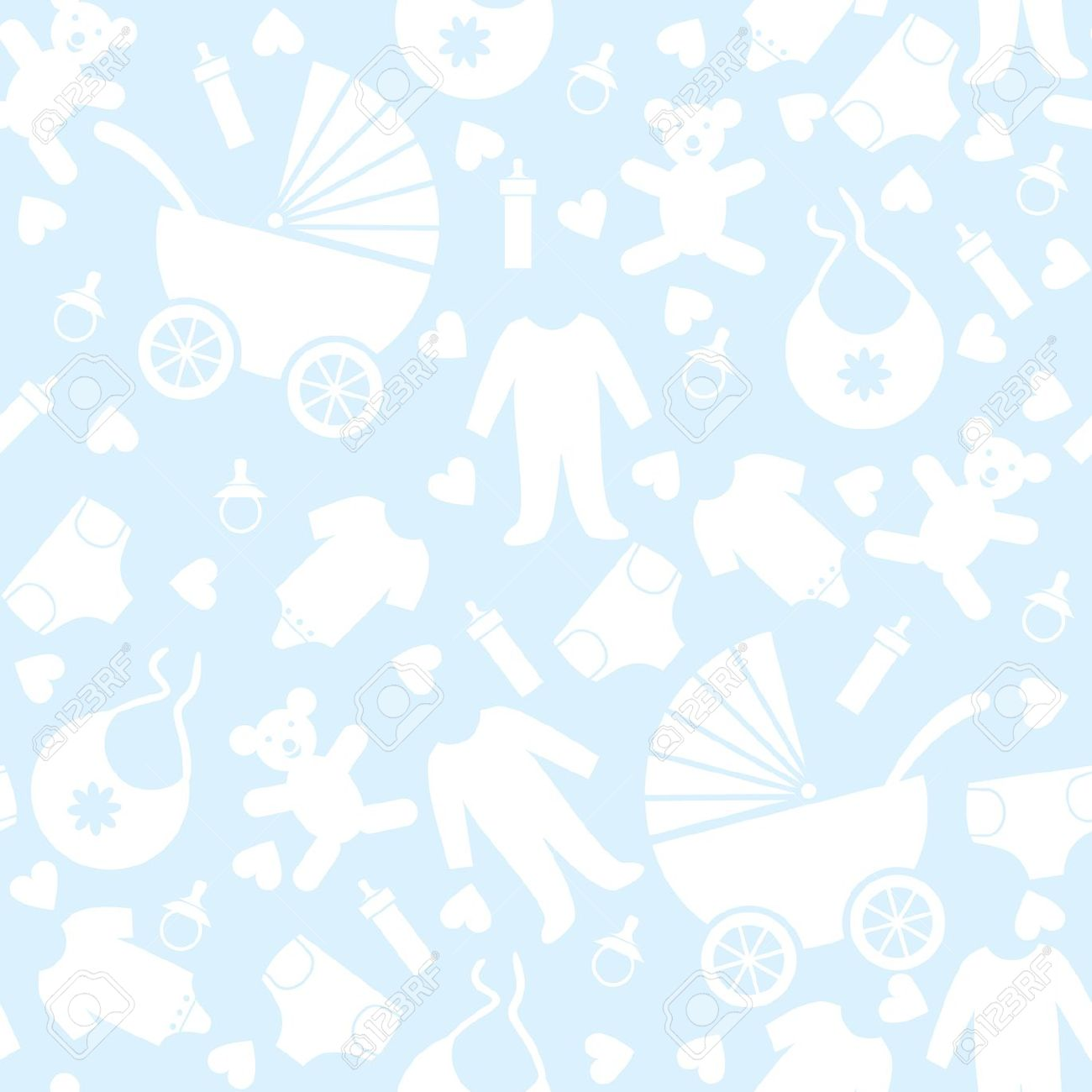 seamless blue baby background