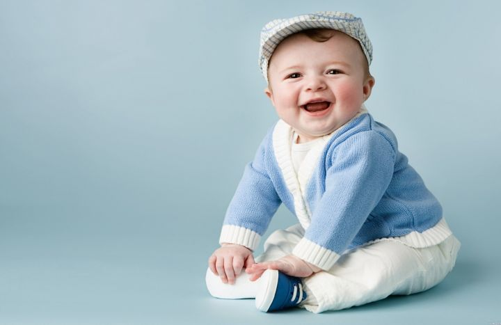 smiling face happy baby
