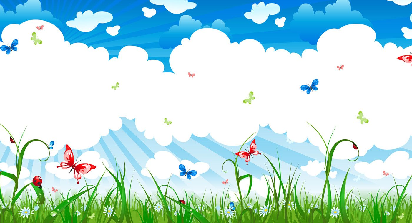 white clouds baby background