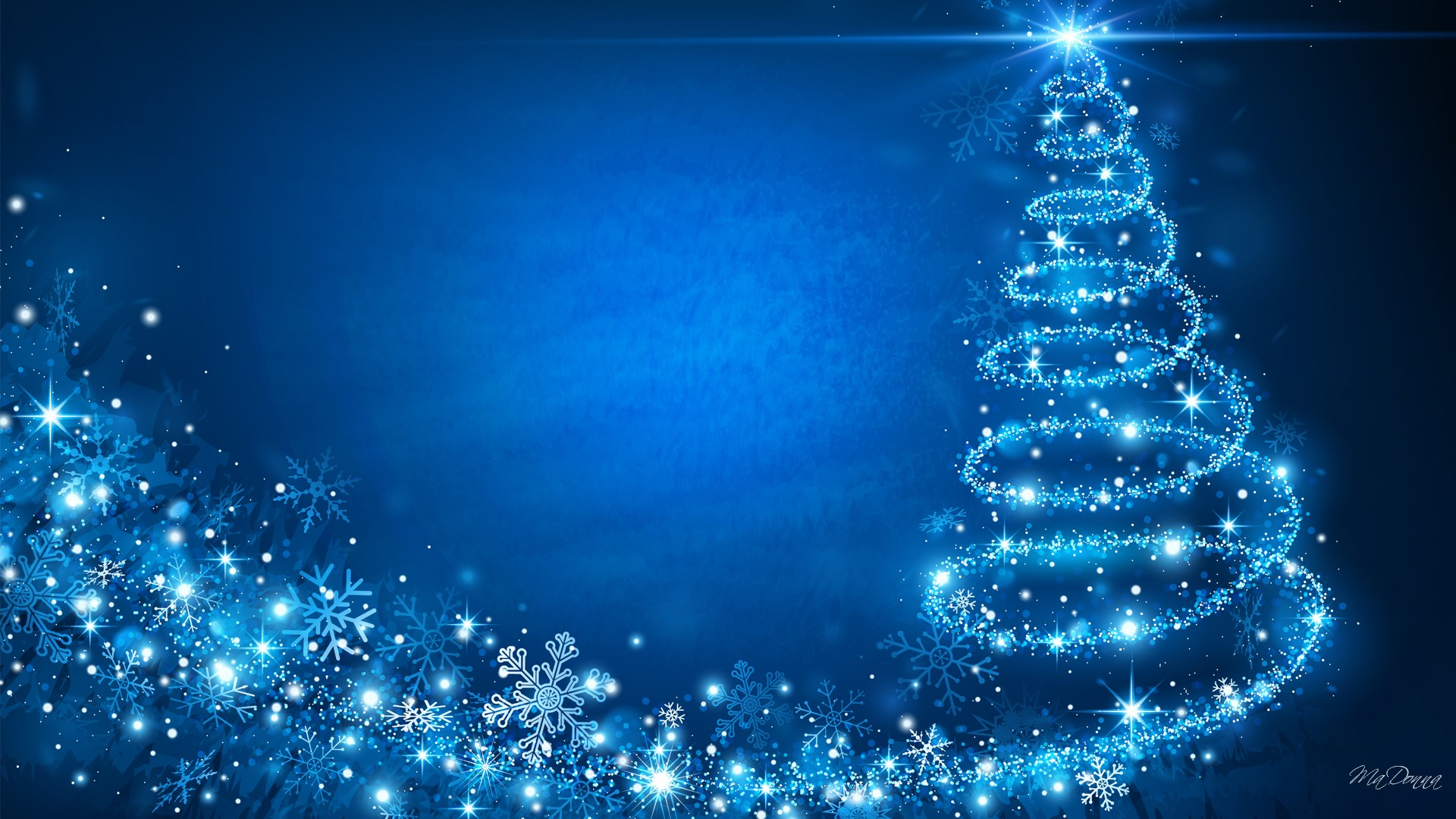 blue hd christmas background