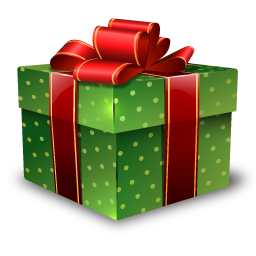 green christmas gift picture