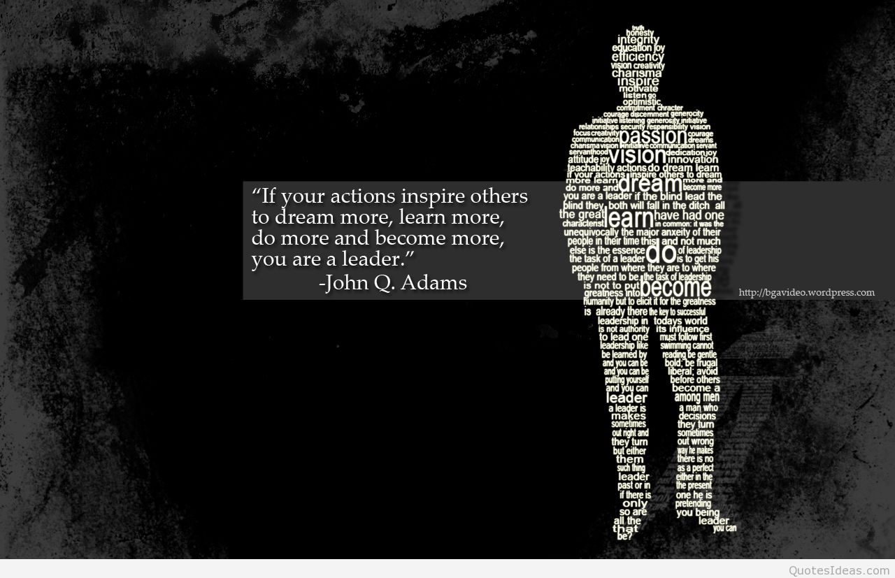top leadership quote background