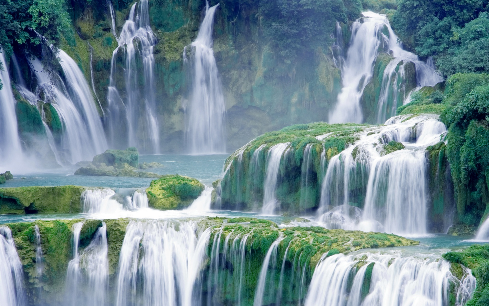 awesome waterfall wallpaper
