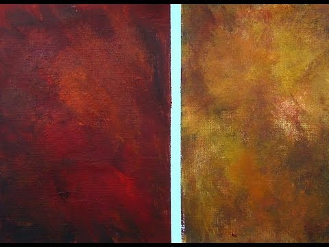 red background painting