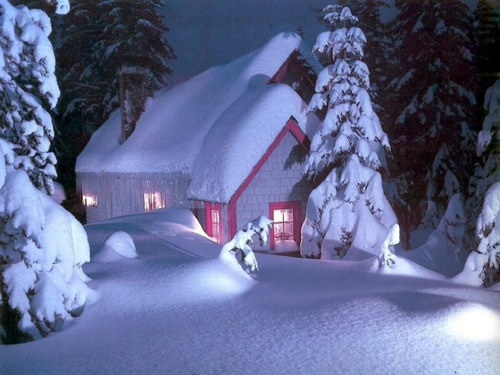 christmas snow house pictures