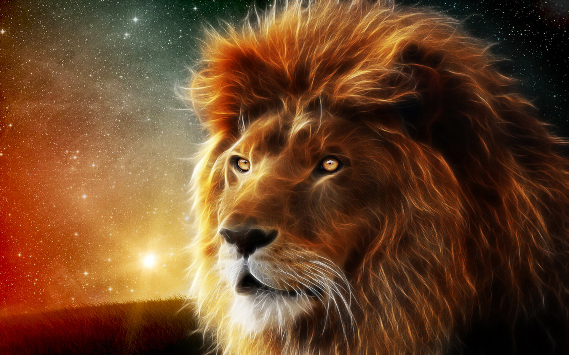 abstract 3d lion image