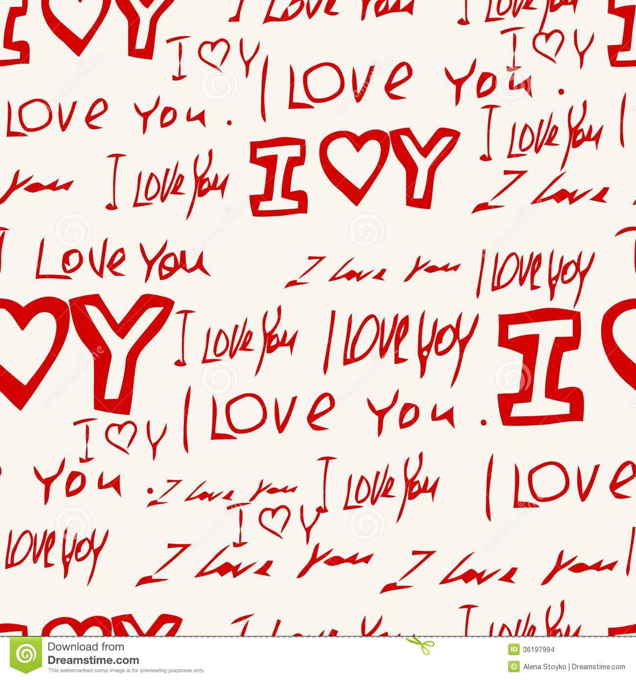 words i l love you pink background