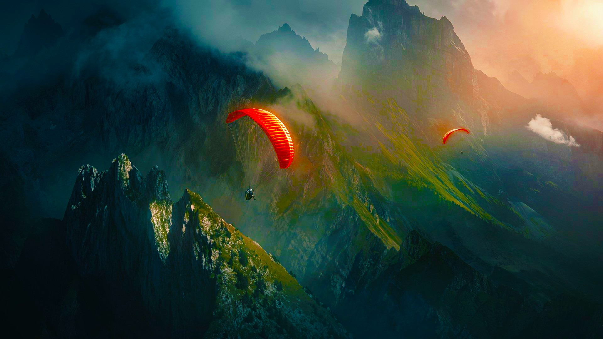 hd skydiving backgrounds