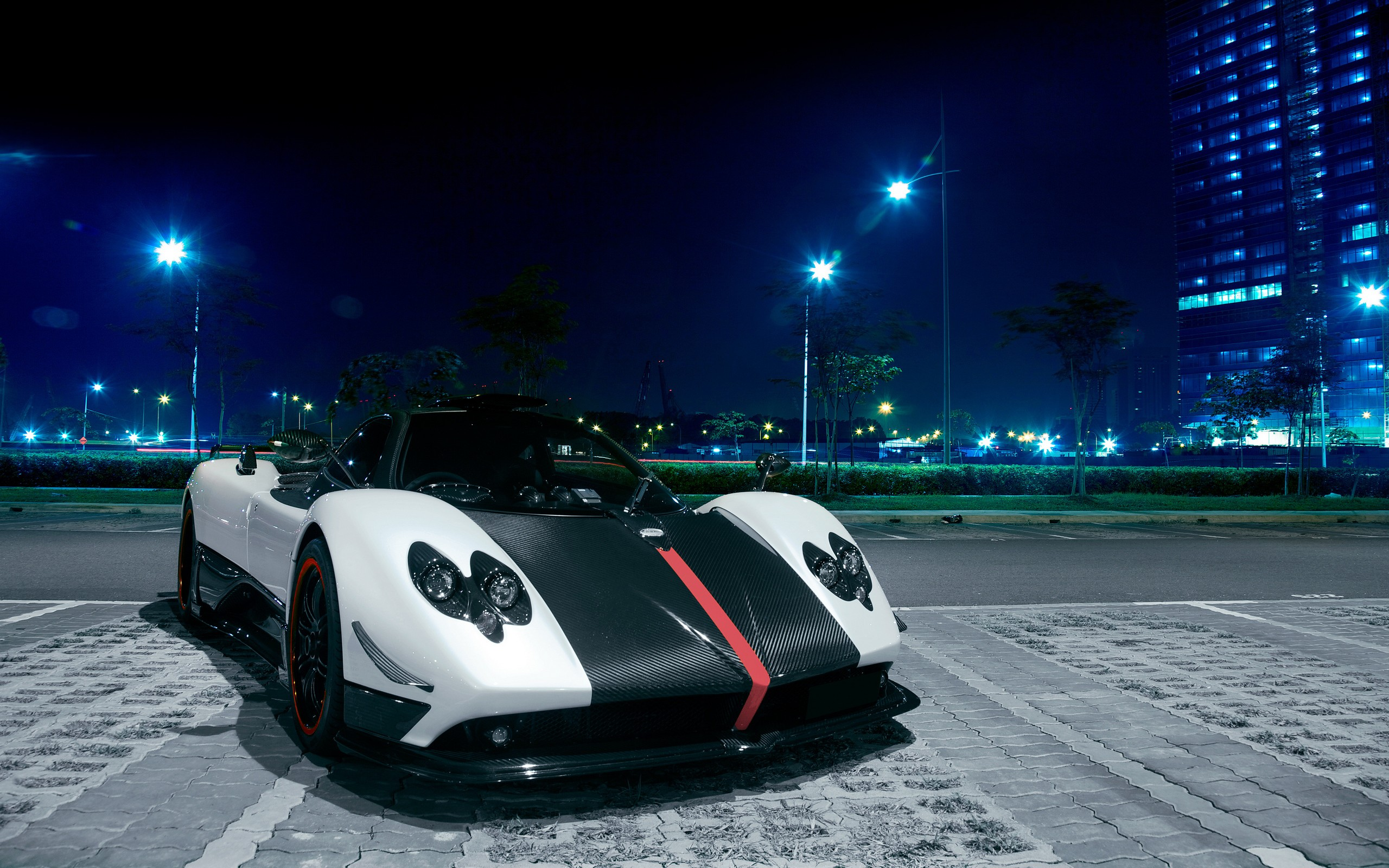 white and black car image