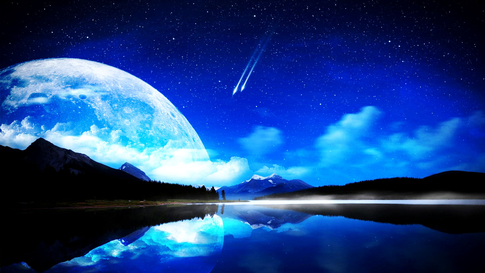 awesome moon wide image