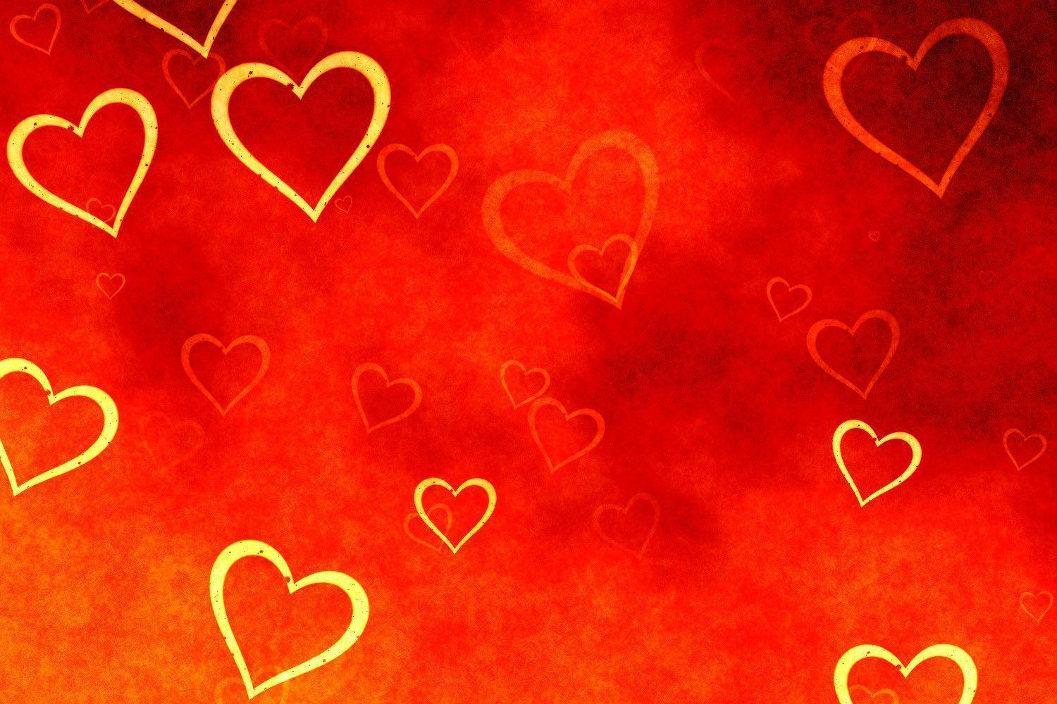 floral hd red heart