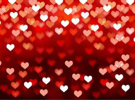 free Red heart background