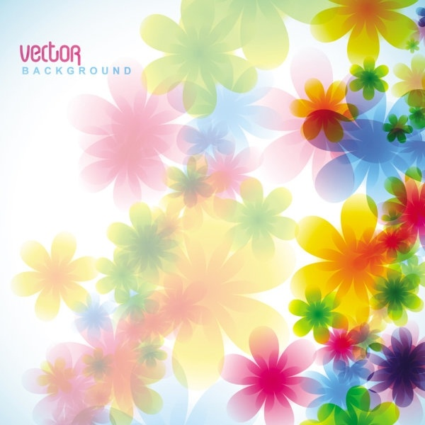 colorful flowers backgrounds