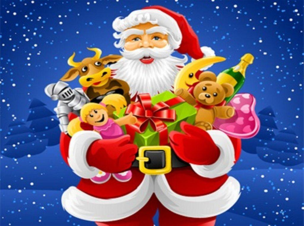 gifts hd Santa Claus Backgrounds