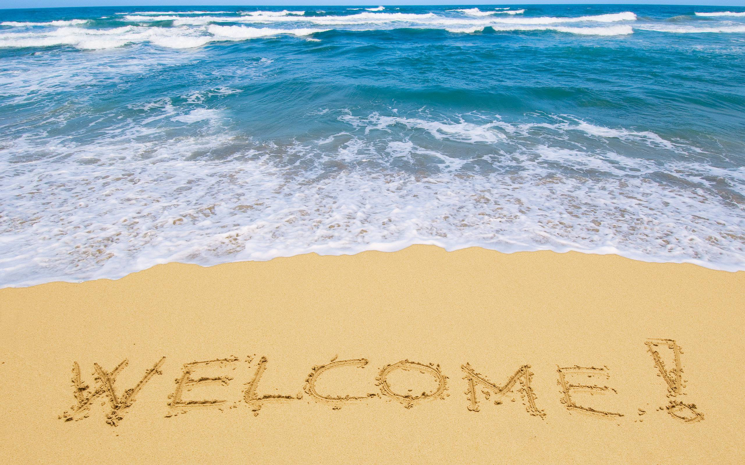 welcome HD Sand Background