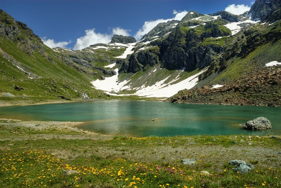 awesome Mountains and Lake