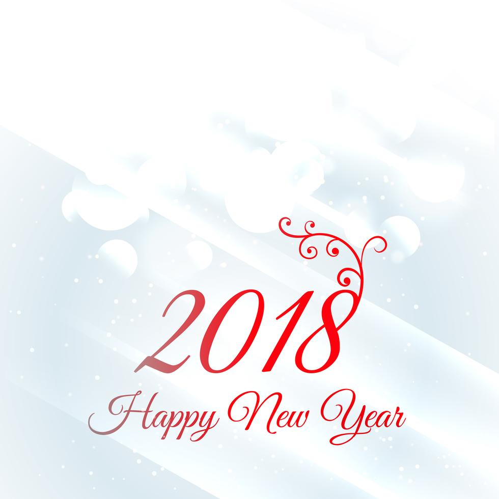 2018 New Year Greetings Background