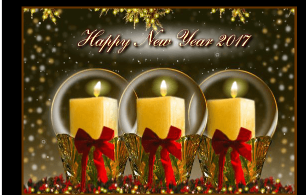 candles Best New Year Cards