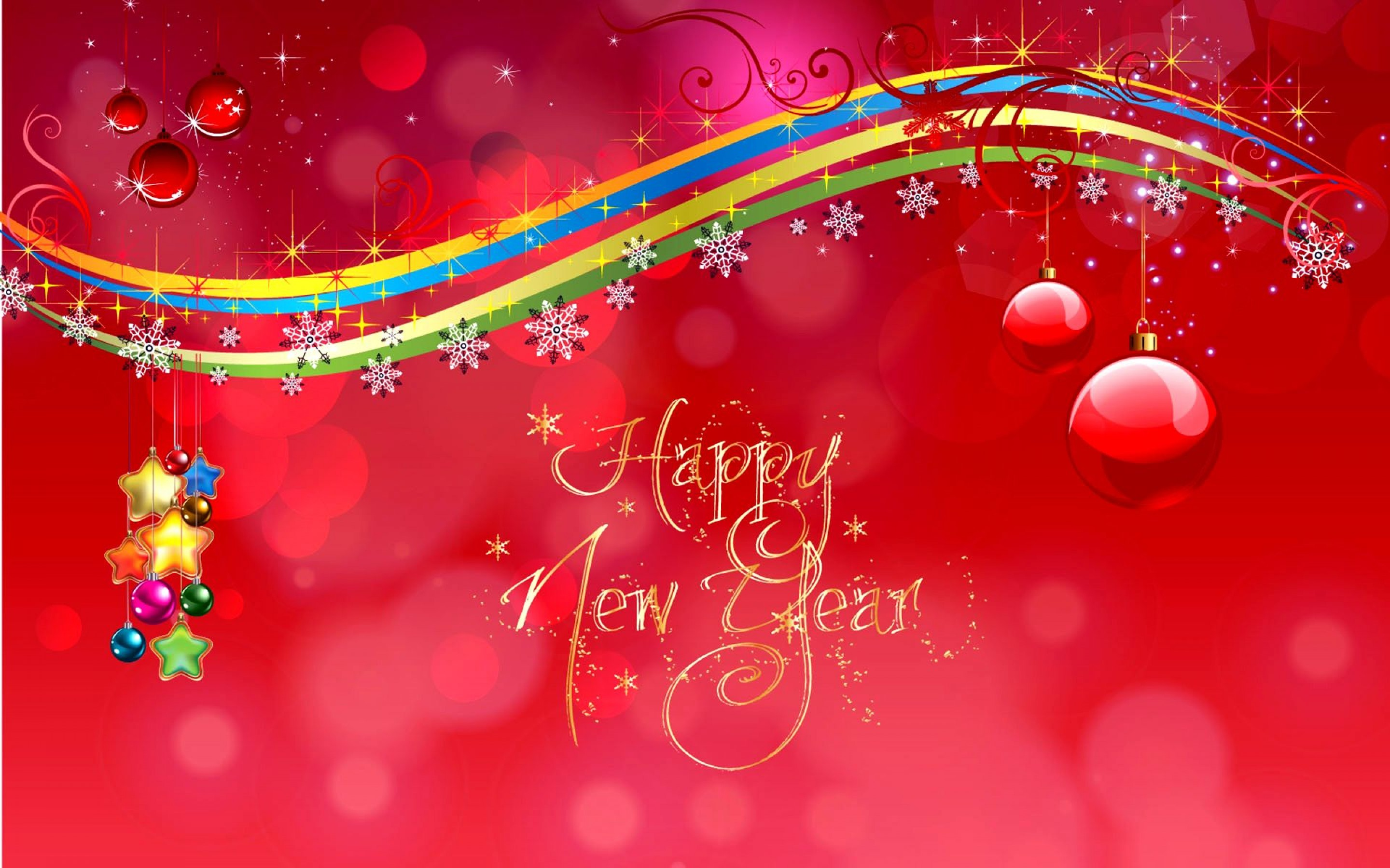 fantastic hd New Year Greetings Background