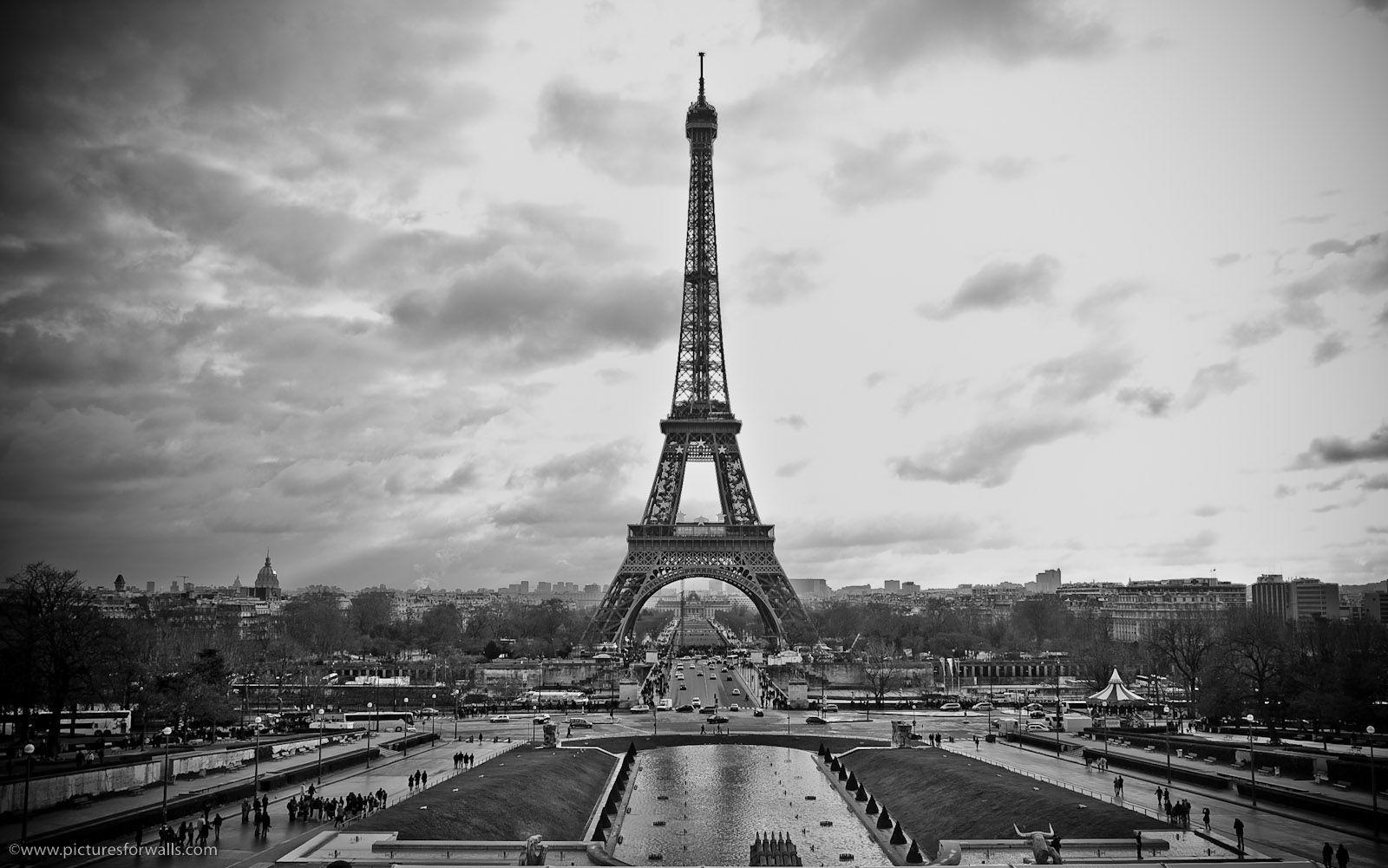 black and white HD Paris Backgrounds