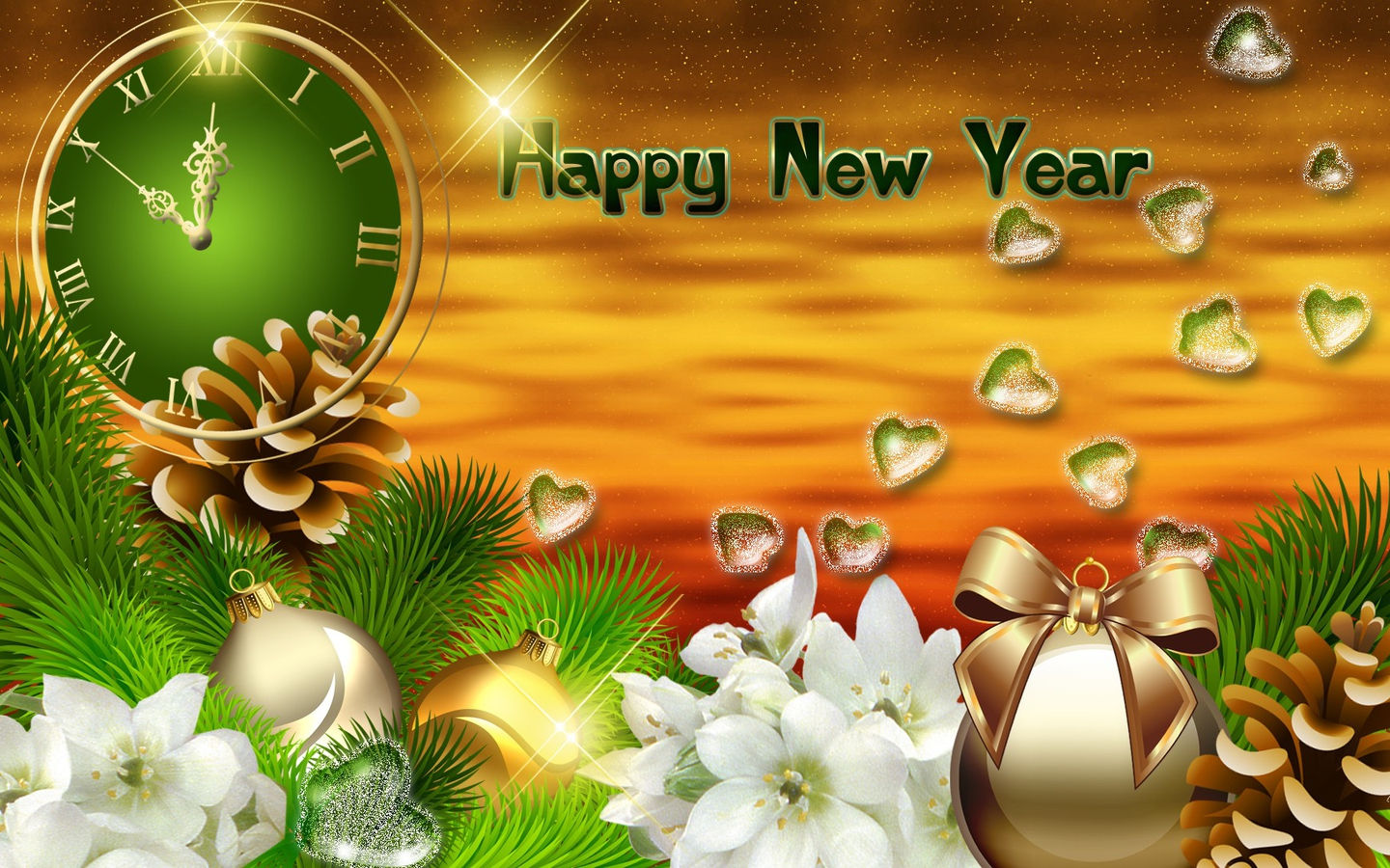 white flower HD New Year Backgrounds