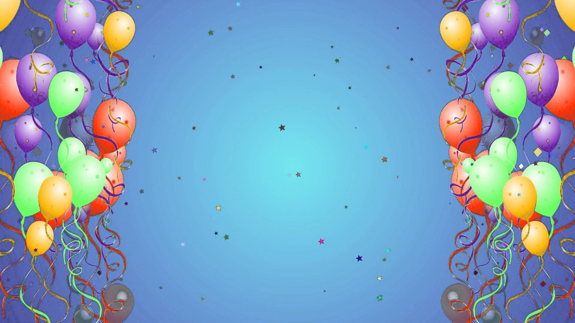 colorful balloons Happy Birthday Background