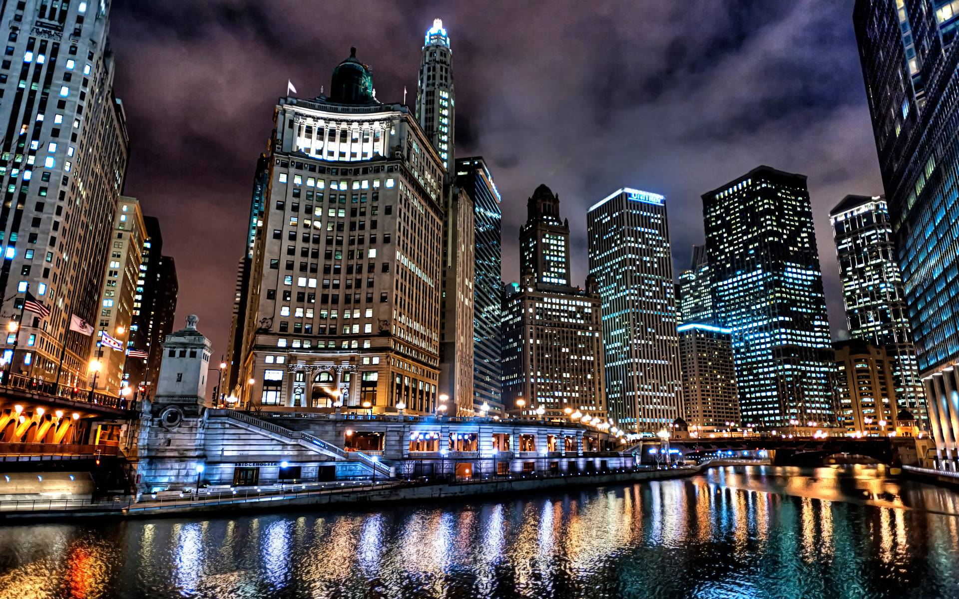 colorful building Chicago Wallpaper