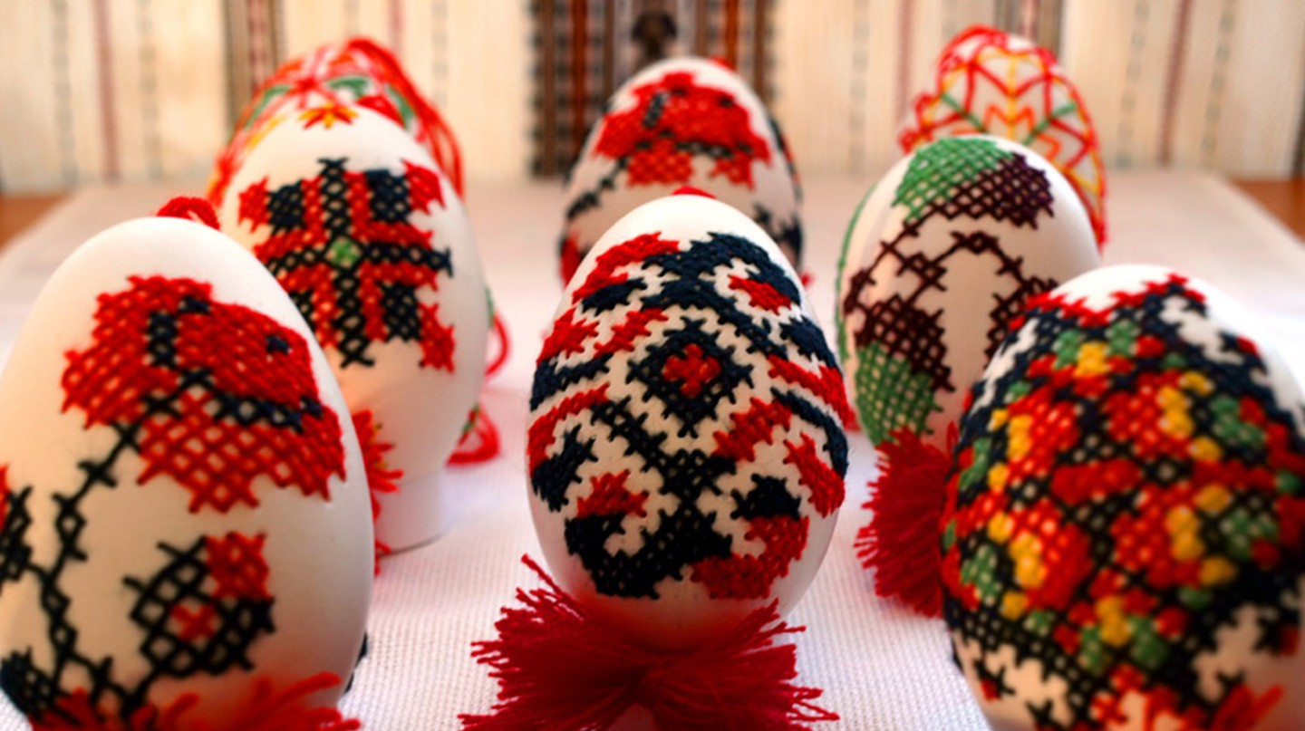 embrodiary Easter Eggs Art image