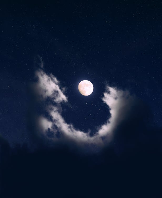 full top Moon Covered in Clouds image