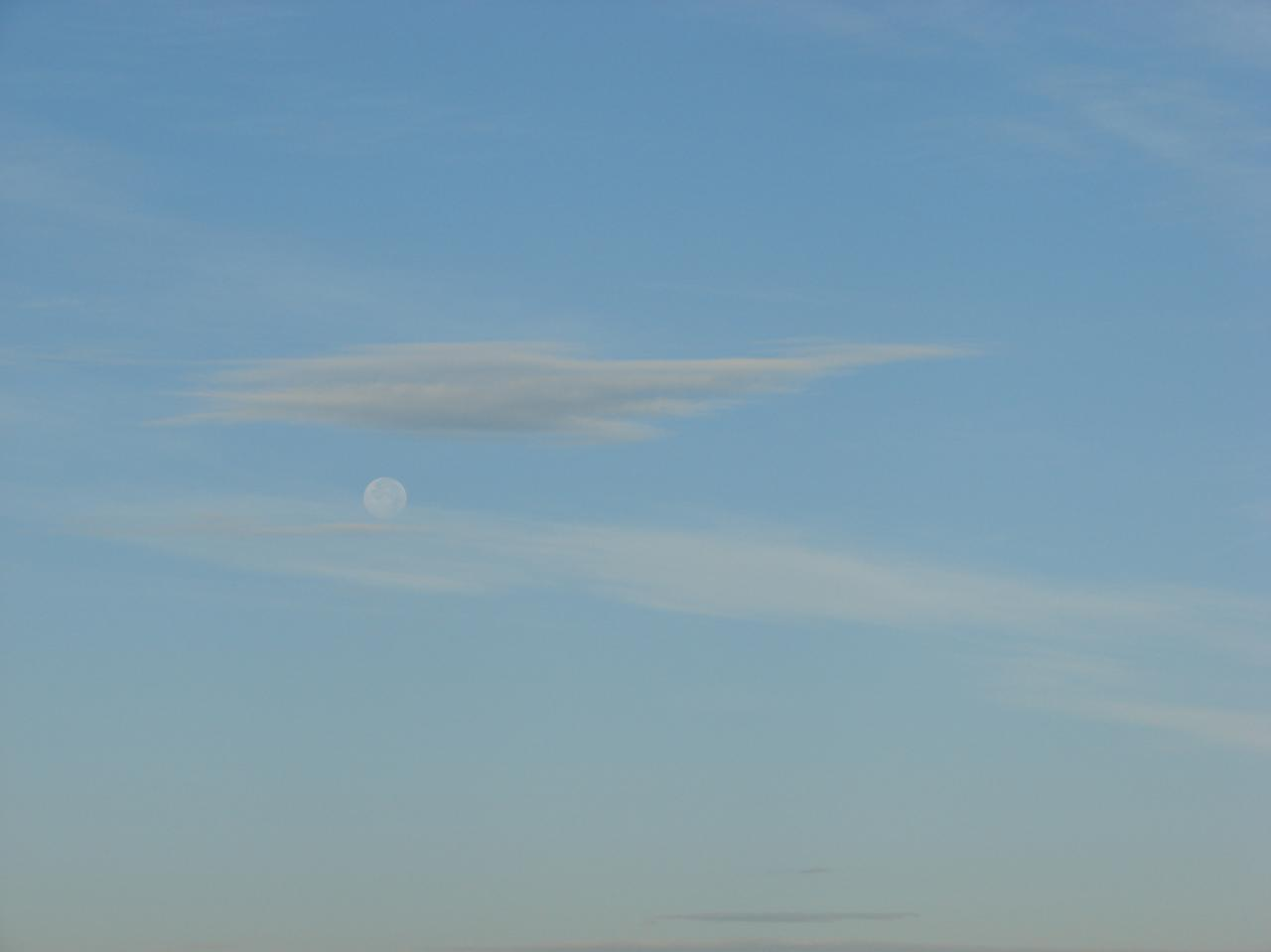 moon and cloud free stock photo